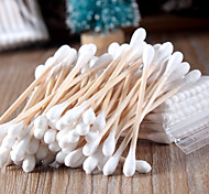 1Set Genuine Natural Birch Stick Cotton Stick Beauty Health kapok Clean Makeup Cotton Swabs 50 Pack