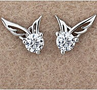 S925 Sterling Silver Earrings with angel wings