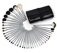 40Pcs Professional Makeup Brushes Synthetic Makeup Brush Set with Animal Hair Brush & Travel Pouch Bag Case