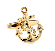 Golden ship anchors French shirt cufflinks Cufflinks