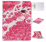 Lovely Princess Rose and TPU Textile Cloth Card Slot Stents The Cladding For Apple iPad 4/3/2