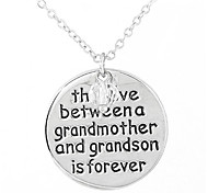 European Style Fashion Boutique the Love Between a Grandmother and Grandson is Forever Necklace