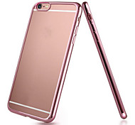 Luxury Metal Plated TPU Ultra Transparent Soft Case for iPhone 6/6S(Assorted Color)