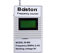 Baiston B-800 1.3'' LCD Handheld Digital 50MHz-2.4GHz Frequency Counter - White