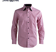 JamesEarl Men's Shirt Collar Long Sleeve Shirt & Blouse Red - DA112046301