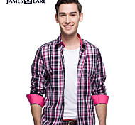JamesEarl Men's Shirt Collar Long Sleeve Shirt & Blouse Pink - DA112047332
