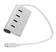cy® 4 puertos USB 3.0 / 2.0 / 1.0 a USB Tipo-c 3.1 usb buje de aluminio