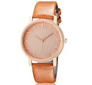 Unisex Fashion Watch New Simple Rose Gold Plate Nailed Scale Fashion Casual Leather Belt Quartz Watch  (Assorted Colors)