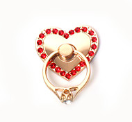 Heart Metal Ring Style Desktop Mobile Phone Stand Holder for iPhone / Samsung and Others(5 Colors)