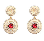 Round Brand Ruby-jewelry Lady Fashion Earrings