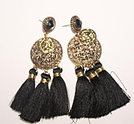 New Arrival Fashional Retro Carving Tassel Earrings