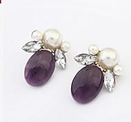 European And American Fashion Wild Futaba Pearl Earrings