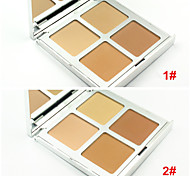 4 Colors Natural Face Powder Cake Pressed Makeup Powder Mineral Dry Concealer Bronzer Skin Finish(Assorted Colors)