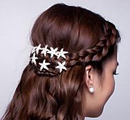 Z&X® Fashion Simple Starfish Alloy Hair Combs Wedding / Rhinestone Party / Daily 1pc Mermaid