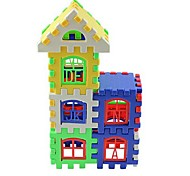 Kid Educational Eenlightenment Toy Colorful House Building Blocks
