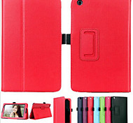 litchi de luxe livre folio PU cas de stand en cuir capa Smart Cover para pour Lenovo a8-50 / de table A5500 (couleurs assorties)