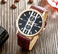 soxy® meilleure entreprise de vente précise sombre plaque rouge bracelet en cuir noir Montre classique de quartz de conception pour les