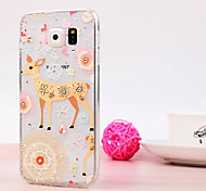The Deer Pattern Luxury Fashion Acrylic soft Case with Diamond for Samsung Galaxy S6/S6 edge