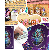 1Pcs Unique Natural Shell Glass Adhesive Nail Art Stickers Nail Wraps For Beauty 20 Designs
