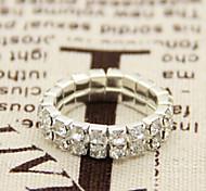 New Arrival Fashional Rhinestone Elasticity Ring