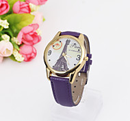 Ladies' Watch Eiffel Tower Pattern Rose Belt Watch