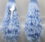 Lolita Wigs Sweet Lolita Elegant Long Blue Lolita Wig 90 CM Cosplay Wigs Solid Wig For Women