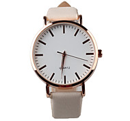 Women's Fashion Watch Quartz Water Resistant / Water Proof PU Band Sparkle White Brand
