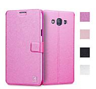 Luxury Silk Texture PU Leather Cover Wallet Flip Case for Samsung Galaxy Core Prime/Grand Prime/J5/J7/E5/E7
