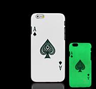 Pokermuster im Dunkeln leuchten Hartplastikhülle für iPhone 6 für iphone 6s Fall