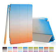 хорошее качество PU кожаный чехол радуга градиента для Ipad мини 4