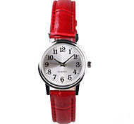 Fashion Beautiful Ladies Watch Lucky Red Belt