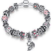 Women Strand Beads BraceletsBeads Bracelet 925 Silver Crystal Bead Charm Bracelet Fit Original glass Bracelet PH011