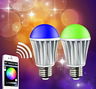 7W E26/E27 Smart LED Glühlampen A60(A19) RGB 5050 5PCS,2835 10 PCS SMD 5050 Red:45-75LM,Green:100-150LM,Blue:20-50LM,Warmwhite:400-550LM