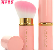 MAKE-UP FOR YOU 1 Pcs Multifunction Retractable Powder Brush(Pink)