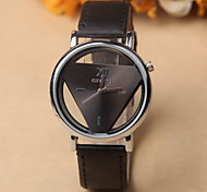 Retro Hollow Harajuku Fashion Unisex Minimalist Inverted Triangle Casual Leather Watch Cool Watches Unique Watches