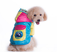 Dog Coat / Hoodie / Clothes/Clothing Blue / Pink Winter Geometic Waterproof / Keep Warm / Fashion