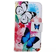 Butterfly Painted PU Phone Case for Huawei Honor 7