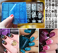 1pcs Nail Art Printing Plant Lace Series Template