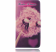 Pink Dandelion Pattern  PU Leather Material Suction Buckle Card Holder  Phone Case for Huawei P8 Lite