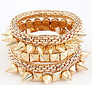 Vintage Multilayer Metal Hyperbole Rivet Bracelet