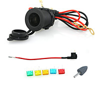 12V 24V Waterproof Cigarette Power Socket Car Motorcycle with 60cm cords Add-a-circuit blade Fuse holder small with fuse