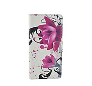 Love Flower Pattern Flip Leather Case For iPhone 5/5S Cover Bags