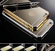 KX Brand Gold Version Metal Frame Acrylic All Mirror Backplane Metal Hard Case for iPhone 6 Plus(Assorted Colors)
