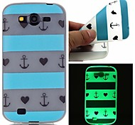 Article Blue Heart Luminous Dream Catcher Pattern Sofe TPU Case for Samsung Galaxy I9060/G530/G360/J3/J1 ACE/ON5/ON7