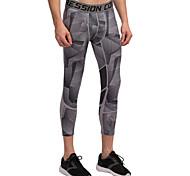 Vansydical Men's Quick Dry Fitness Bottoms Green / Gray / Black