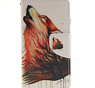 The Wolf Totem Design PU Material Cell Phone Case Cover For WIKO Sunset 2