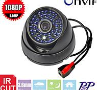 48pcs cctv LEDs IR-cut red p2p 720p cámara de seguridad de la bóveda armadura caja de metal ip 2.0mp cámara de vigilancia IP