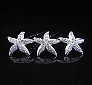 Z&X® Fashion Simple Starfish Alloy Hair Combs Wedding / Rhinestone Party / Daily 1pc Mermaid