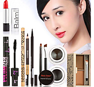 Hot Makeup Set Eyeshadow Palette Eyelashes Brush Mascara Eyeliner Pen Kit