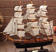 деревянная модель Парусная лодка в Средиземном пиратский корабль подарок ремесло корабль гладкие статьи меблировки (ramdon цвет)